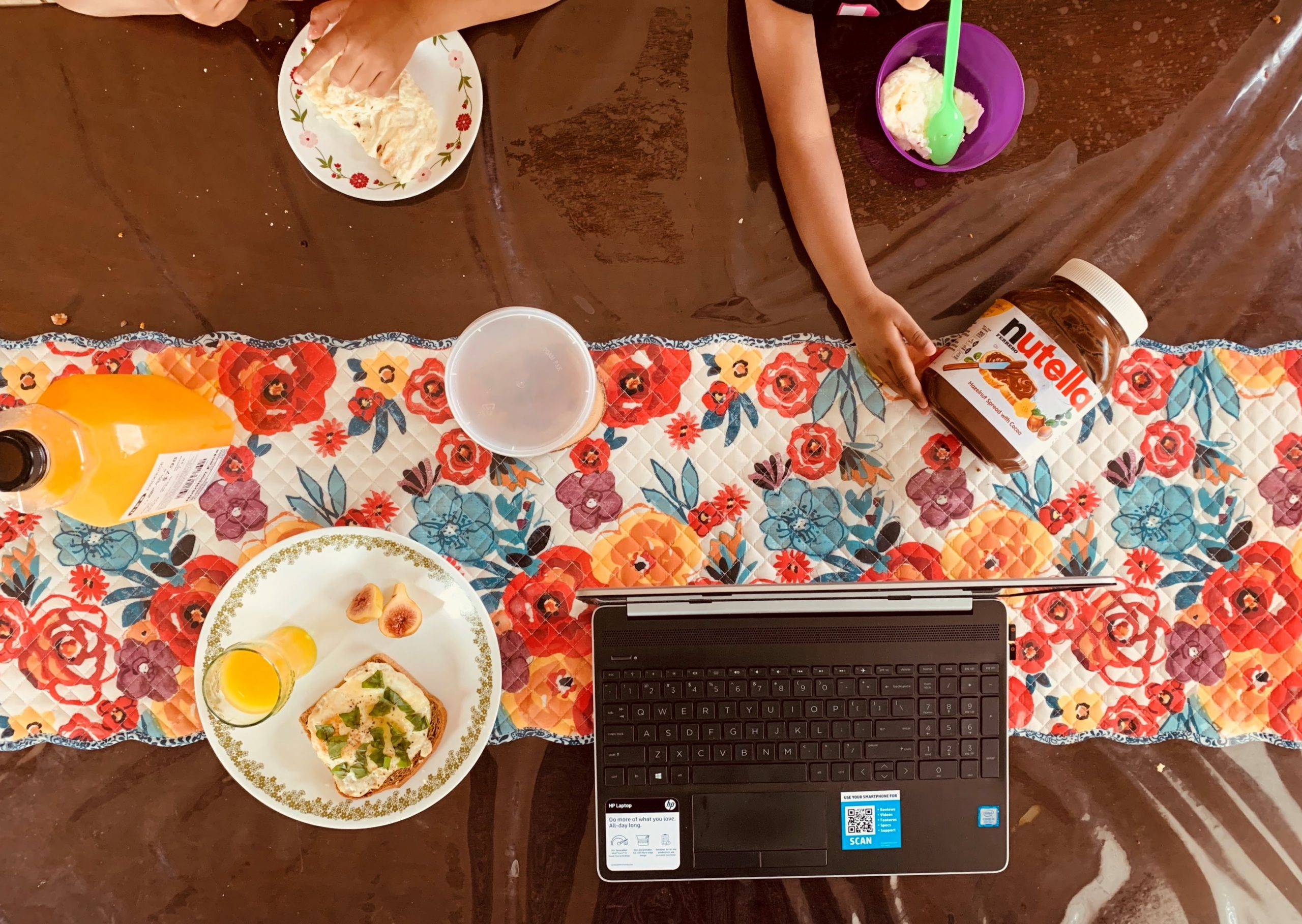 Working from home and sharing meals during pandemic